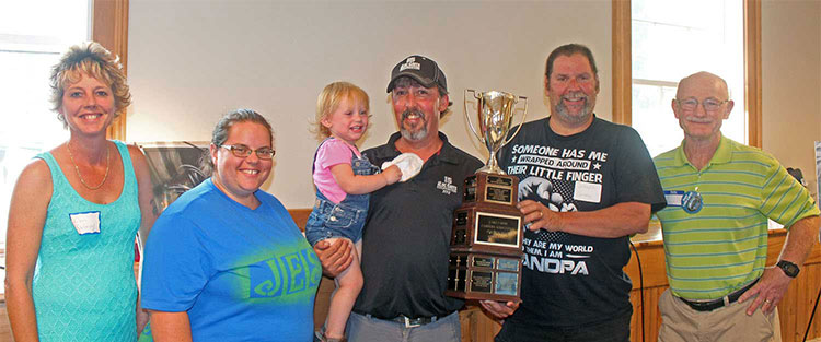 Pontoon Boat race Trophy Winners - Larry Myott Photo